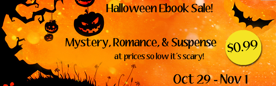 "Give yourself a calorie-free Halloween treat. Buy a book! Click on the banner to find a great book (like ""Pies & Peril"") to distract you from all of the Halloween candy. :)"